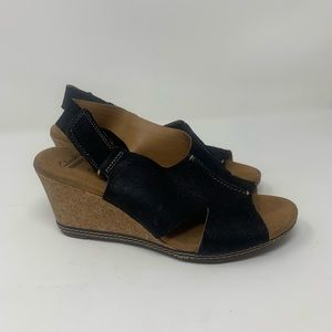 Clarks Wedge Helio Float Wedge Backstrap 8M, Cork